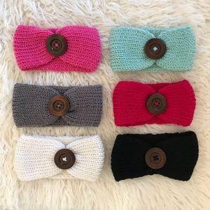 Other - Brand New 6 Knit Crochet Baby Girl Headbands